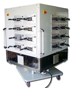 Multi-unit Rotating Cabinet with Lift