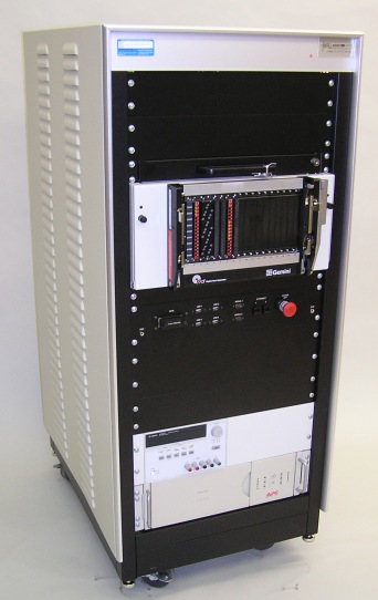 Custom designed PXI Test Console, including NI Chassis and VPC Interconnect.