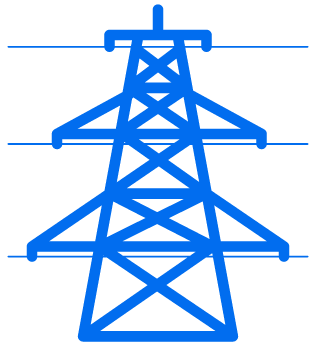 blue power line icon