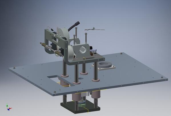 Image 3: CAD drawing of belt tensioning system