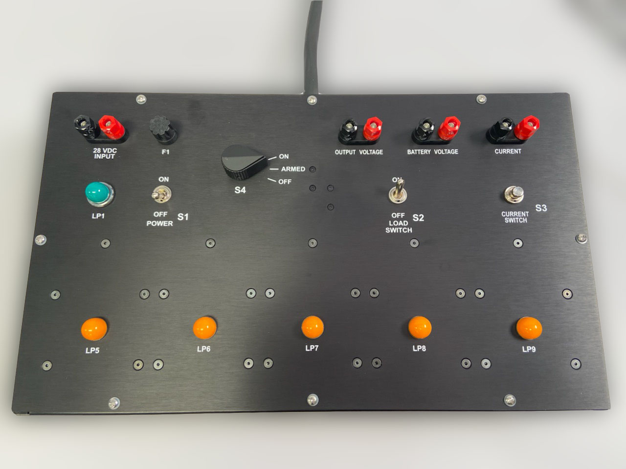 overhead view of test box