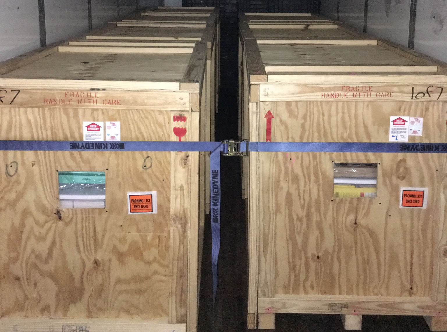 crates ready for delivery